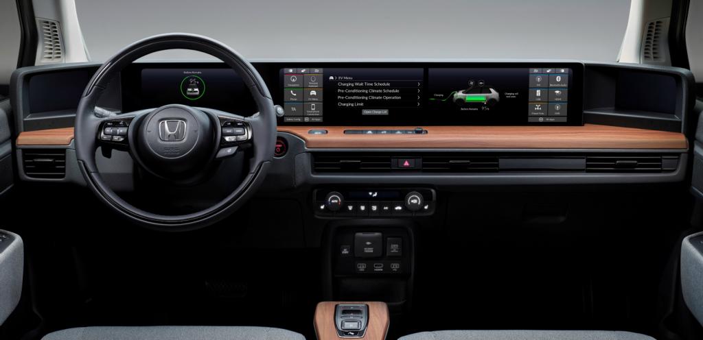 Nuova Honda E design interno